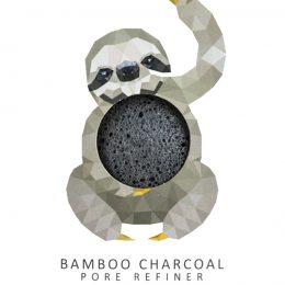 KONJAC Gąbka MINI Rainforest Leniwiec z Czarnym Węglem Bambusowym do Cery Tłustej i Problematycznej