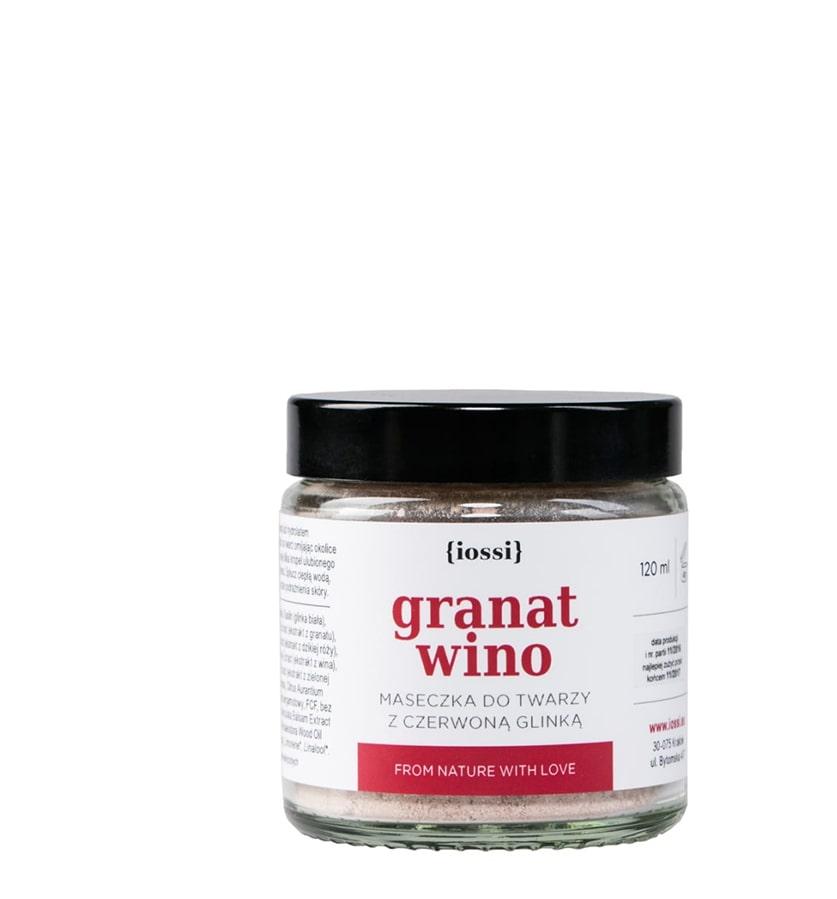 IOSSI Maseczka do Twarzy Granat i Wino