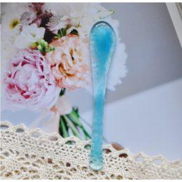 krem de la krem szklana szpatułka błękitna