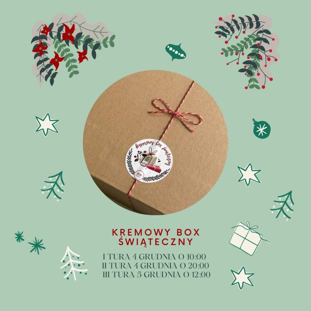 Kremowy box świąteczny